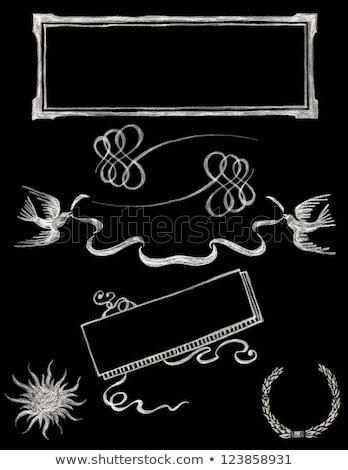 Wedding nastro frame set sfondi Foto d'archivio © OliaNikolina