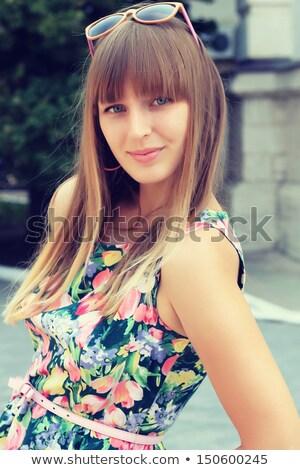 happy smiling girl wearing bangs Stock photo © sapegina