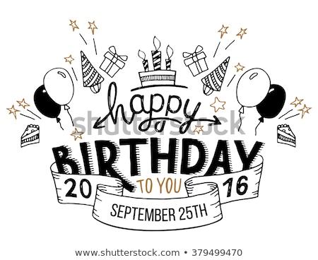 A happy birthday artwork Stock photo © bluering