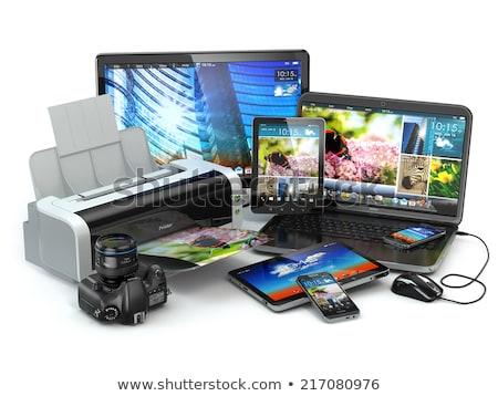 Multimedialnych elektronicznej urządzenie wektora sztuki ilustracja Zdjęcia stock © vector1st