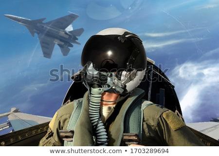 Combat airplane Stock photo © DzoniBeCool