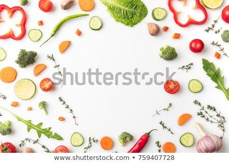 étel kör gyorsételek egészséges étel réteges illusztráció Stock fotó © DzoniBeCool
