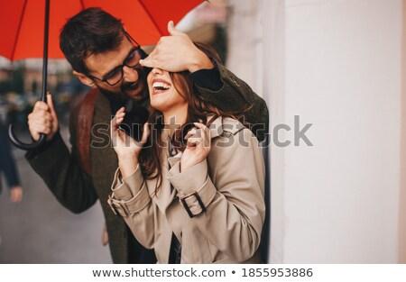 цепь · глазах · женщину · любви · счастливым - Сток-фото © deandrobot
