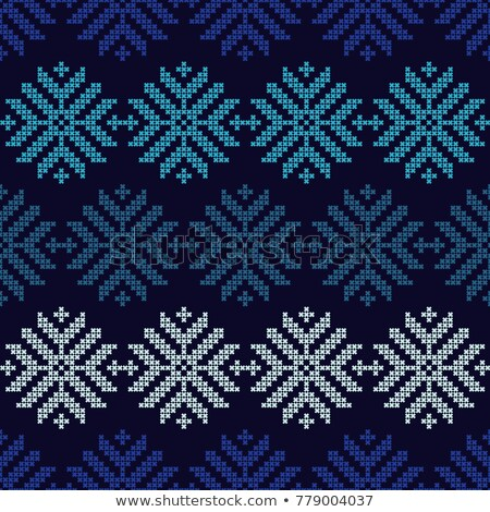 Holidays winter knitted seamless wallpaper, vector illustration Stock photo © carodi