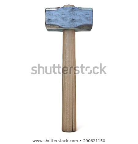 Metal sledge hammer, standing. 3D Stock photo © djmilic