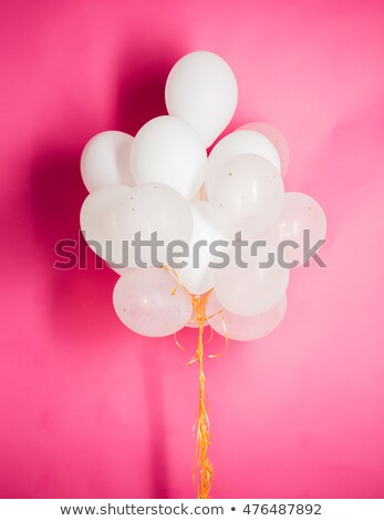 branco · hélio · balões · rosa · férias - foto stock © dolgachov