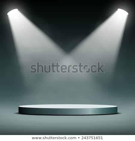 Estudio dos terreno luces fondo habitación Foto stock © SArts