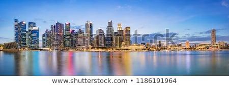 Cingapura centro da cidade linha do horizonte ver núcleo brilhante Foto stock © joyr