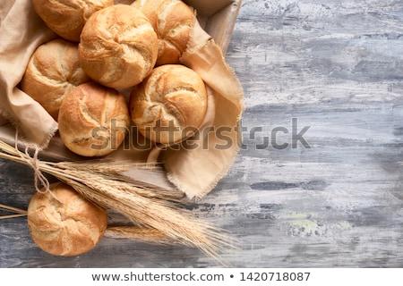 新鮮な · パン · 孤立した · キッチン · ベンチ - ストックフォト © digifoodstock