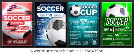 Футбол лига Flyer дизайна спортивных приглашения Сток-фото © SArts