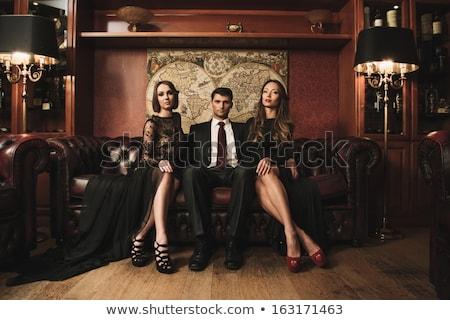 Bogat femeie scump canapea frumos Imagine de stoc © ssuaphoto