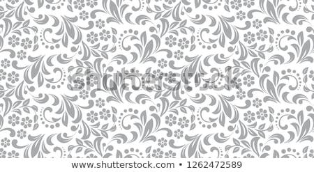 Grau Blumenmuster Textur Hintergrund Stoff Muster Stock foto © SArts