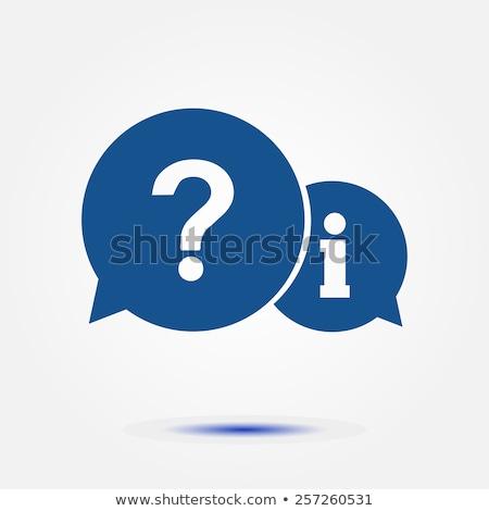 Mavi sss ikon amblem simgeler düğme Stok fotoğraf © Oakozhan