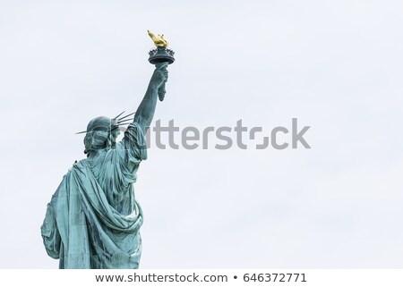 Statue liberté Retour automne couleurs ciel Photo stock © dawesign