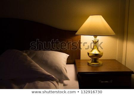 bedroom lamp on a night table stock photo © stevanovicigor