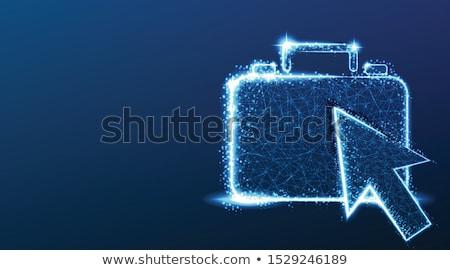 Dark Blue Briefcase Icon Stock photo © robuart