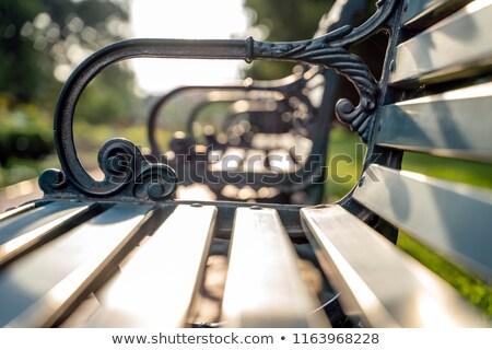 wooden bench close up stock photo © oleksandro