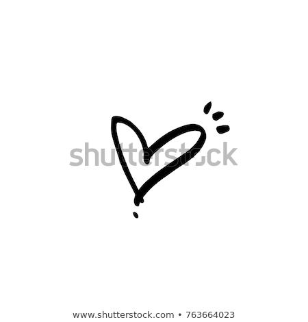 forma · de · coração · branco · neve · amor · símbolo - foto stock © kotenko
