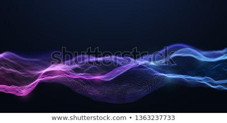 Abstrato ondulado partículas tecnologia fundo Foto stock © SArts