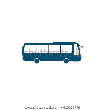 turist · otobüs · ikon · görmek · gri - stok fotoğraf © place4design