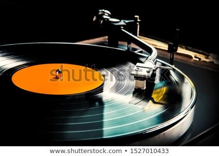 Vintage gramofonu winylu dysku muzyki Zdjęcia stock © dolgachov