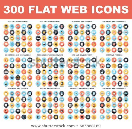 сайт оптимизация икона дизайна изолированный иллюстрация Сток-фото © WaD