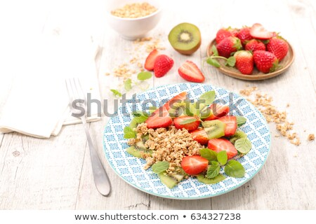 イチゴ アリ ミューズリー 食品 朝食 料理 ストックフォト © M-studio