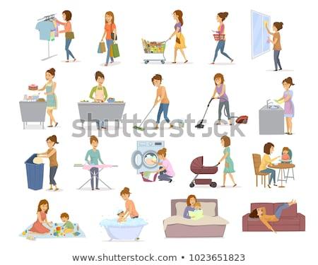 woman does the laundry Stock photo © adrenalina