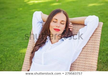 Belle fille président visage mode Photo stock © AntonRomanov