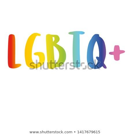 бисексуал · знак · люди · символ · компьютер · генерируется - Сток-фото © popaukropa