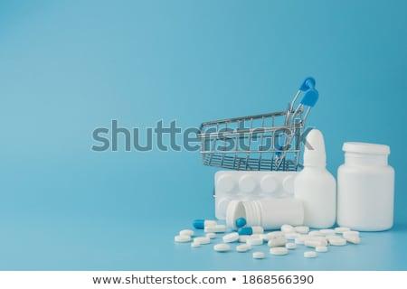 Variedad médicos drogas jeringa primer plano salud Foto stock © OleksandrO