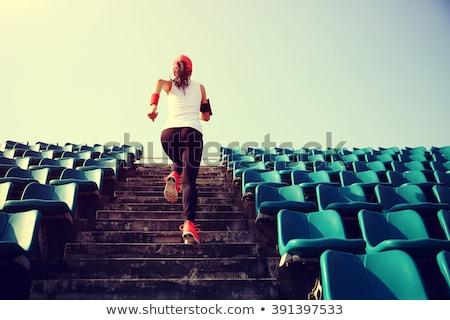 back of sport girl at stadium Stock photo © ssuaphoto