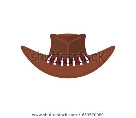 australian crocodile hunter cap cowboy brown hat isolated stock photo © popaukropa