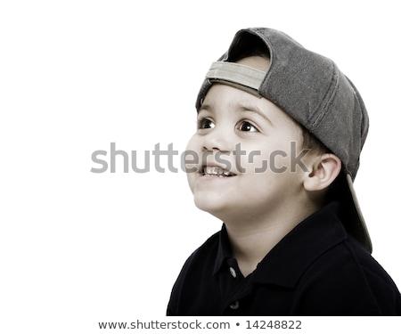 Erkek kapak geri örnek gülümseme Stok fotoğraf © bluering