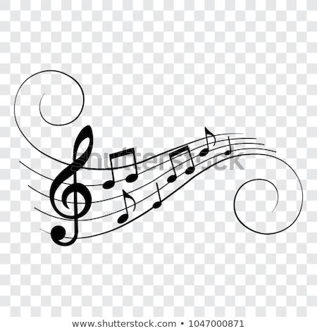 Muziek merkt abstract musical Blauw muziek merkt muziek Stockfoto © alexaldo