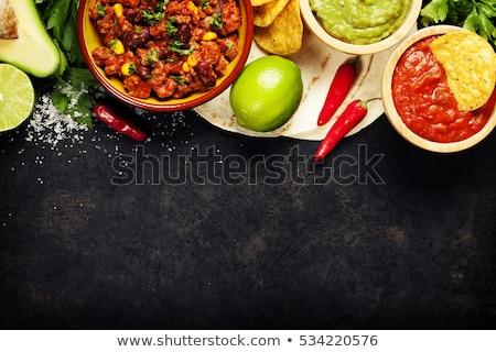 Mexicaans eten illustratie verlicht neonreclame voedsel restaurant Stockfoto © 72soul