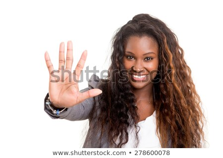 african american business woman showing stop gesture with hand stock photo © nikodzhi