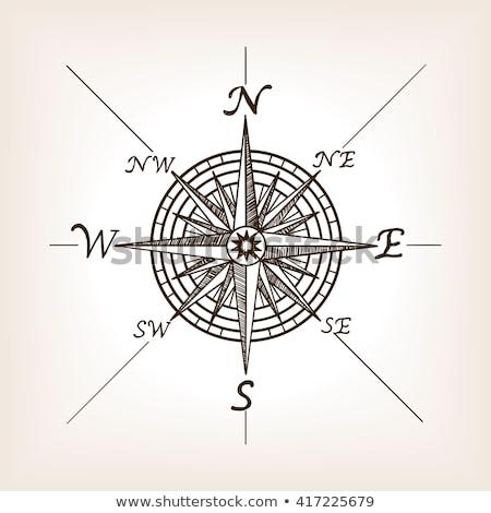 Realistisch tekening kompas paar kantoor Stockfoto © pakete