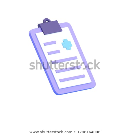 clipboard with insurance forms 3d illustration stock photo © tashatuvango