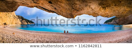 pôr · do · sol · belo · praia · romântico · natureza - foto stock © Freesurf