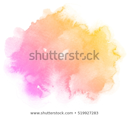 abstract pink orange watercolor stain texture background Stock photo © SArts