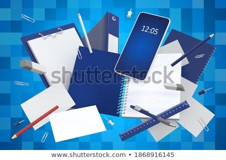 clipboard · carreira · desenvolvimento · 3D · mesa · de · escritório · artigos · de · papelaria - foto stock © tashatuvango