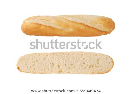 Francia francia kenyér fehér fehér háttér stúdiófelvétel Stock fotó © Digifoodstock