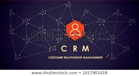 корпоративного crm икона дизайна бизнеса Финансы Сток-фото © WaD