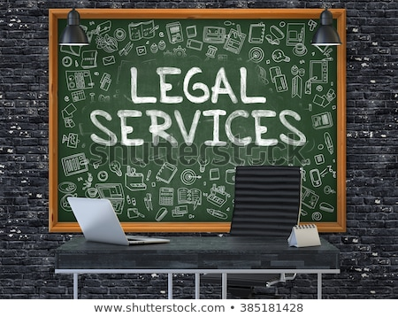 Pizarra oficina pared jurídica servicios verde Foto stock © tashatuvango