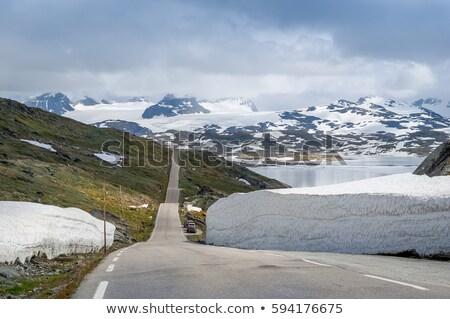 Famoso estrada Noruega montanha turista rota Foto stock © compuinfoto