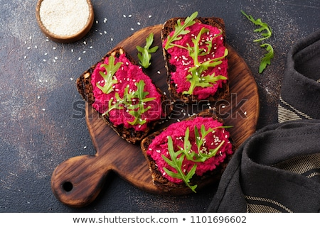 beetroot spread with toasted bread stock photo © digifoodstock