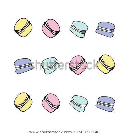Macarons conjunto vetor topo ver colorido Foto stock © pikepicture