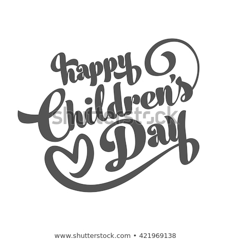 Boy Congratulates with Happy Childrens Day Vector Stock photo © robuart