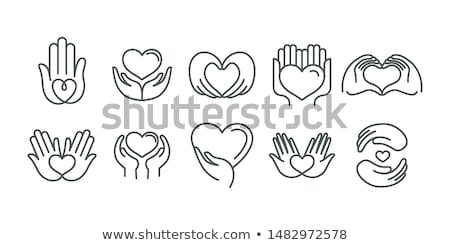 Icon heart that prays  Stock photo © Olena